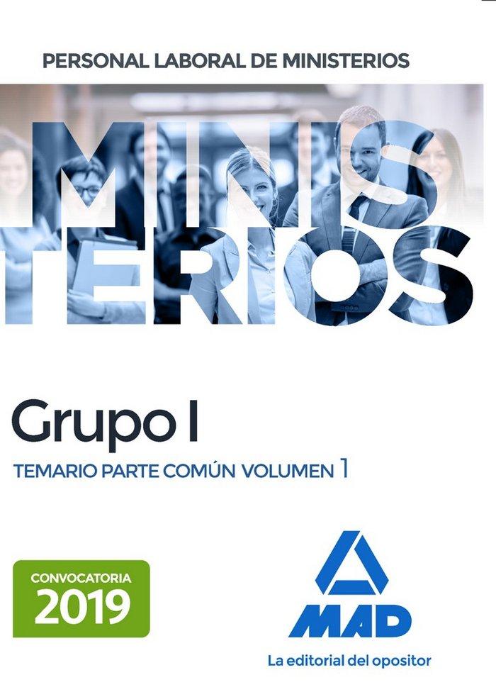 Personal laboral ministerios grupo 1 temario vol 1