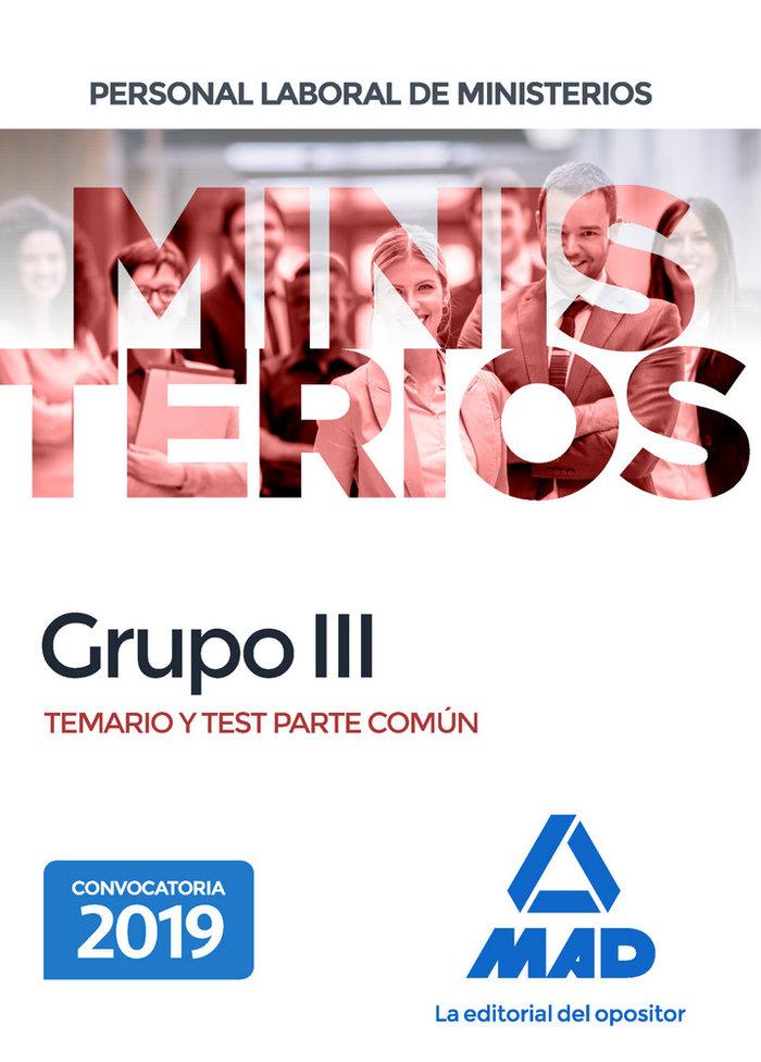 Personal laboral de ministerios grupo iii temario y test p