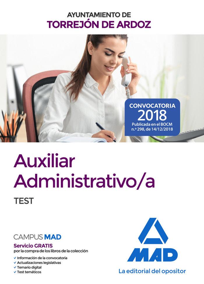 Auxiliar administrativo/a ayuntamiento torrejon ardoz test