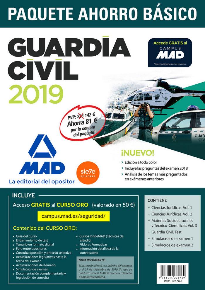 Paquete ahorro básico guardia civil 2019