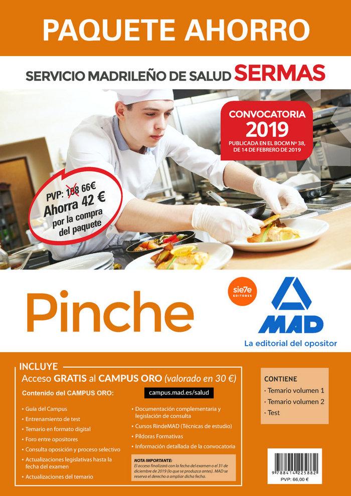 Paquete ahorro pinche servicio madrileño de salud 2019