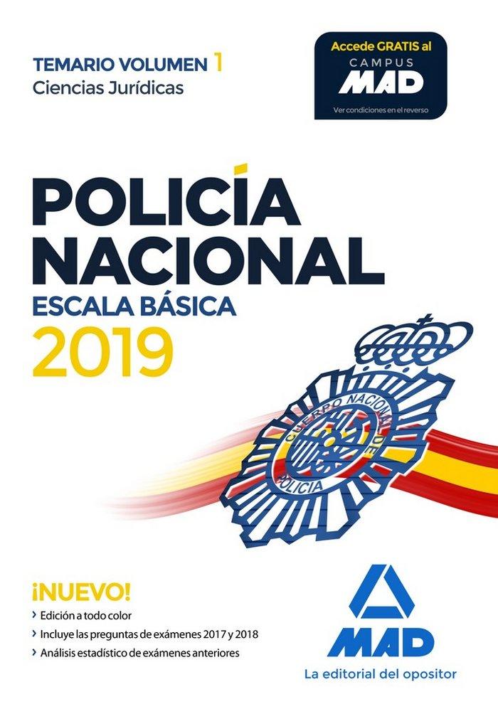 Policia nacional escala basica temario volumen 1 ciencias