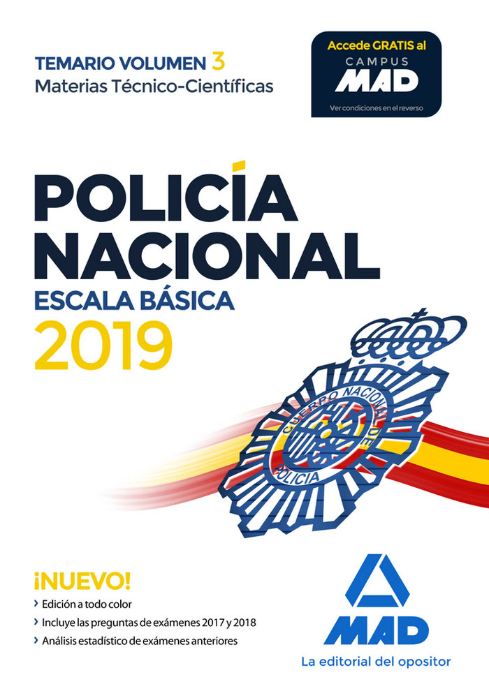 Policia nacional escala basica temario volumen 3 materias