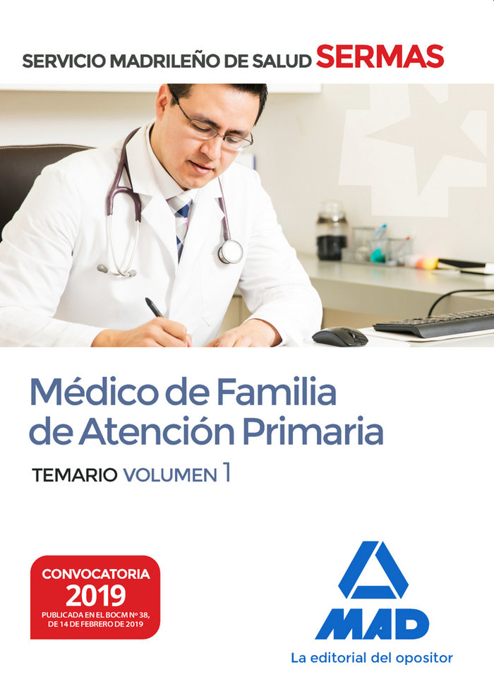Medico de familia de atencion primaria del servicio madrileñ