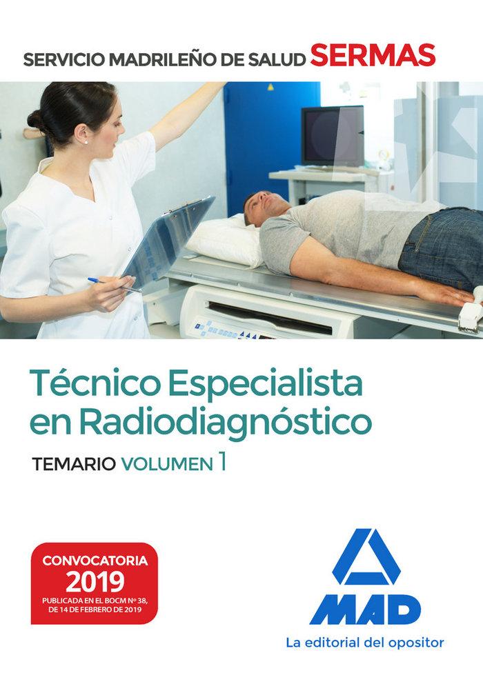 Tecnico especialista en radiodiagnostico del servicio madri