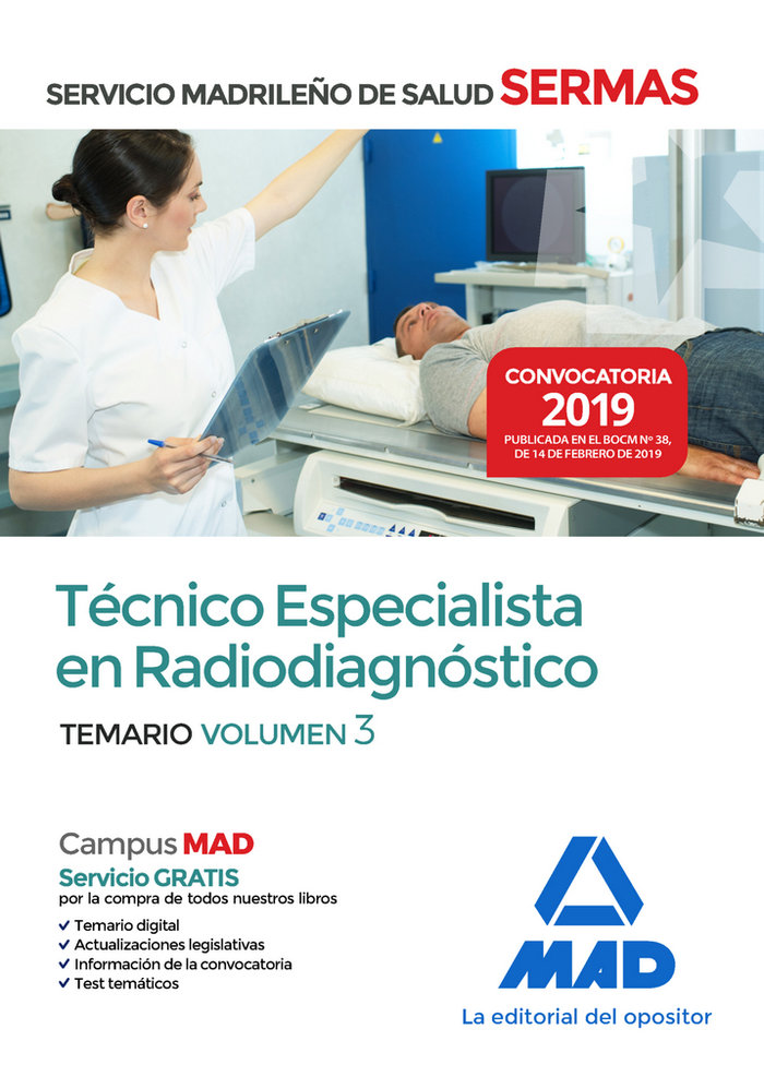 Tecnico especialista radiodiagnostico servicio madrid vol 3