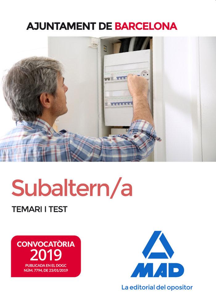 Subaltern/a de lajuntament de barcelona temari i test