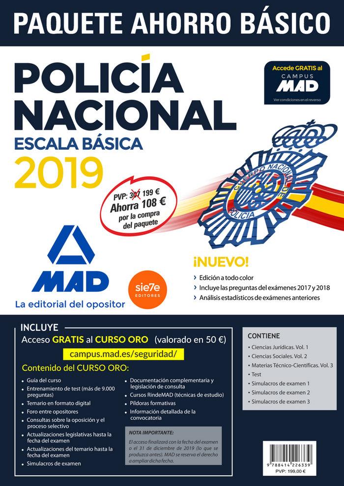 Paquete ahorro basico escala basica policia nacional 2019. a