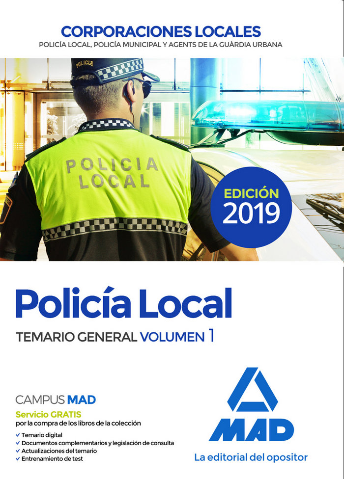 Policia local temario general volumen 1