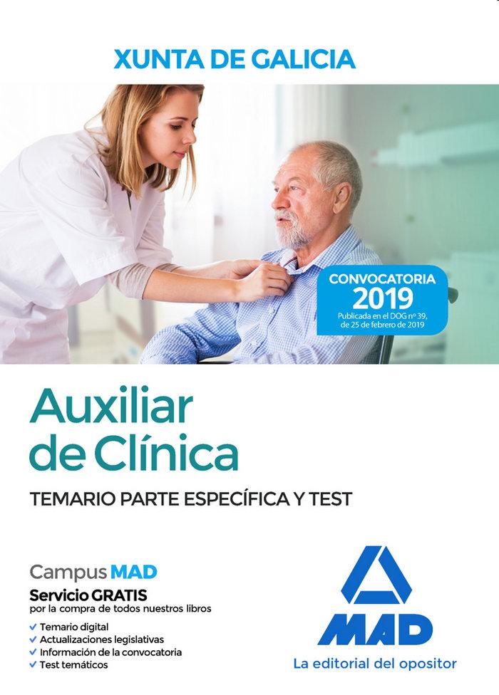 Auxiliar clinica xunta galicia temario especifico test