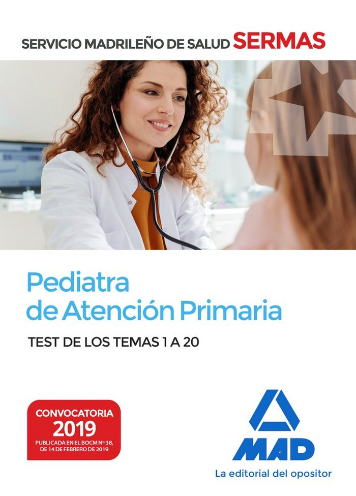 Pediatra atencion primaria servicio madrid salud test