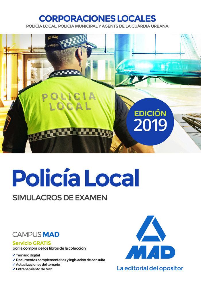 Policia local simulacros de examen