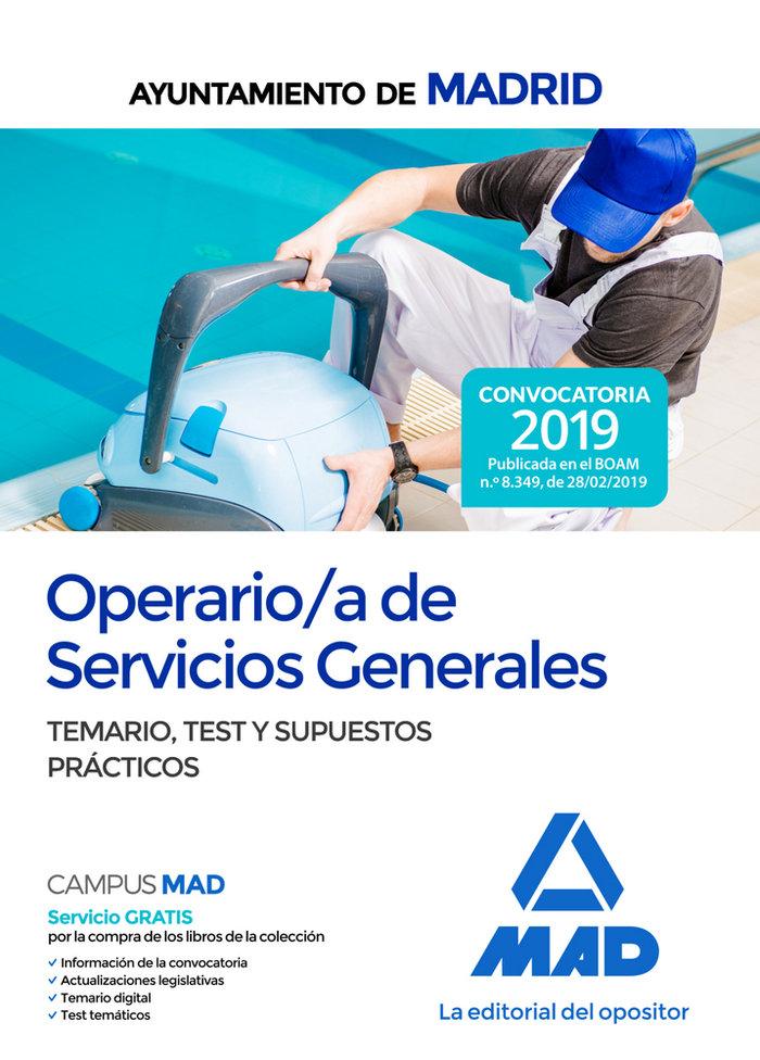 Operario/a servicio general ayuntamiento madrid temario tes