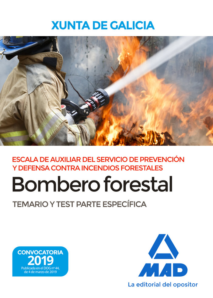 Escala auxiliar servicio prevencion y defensa temario test