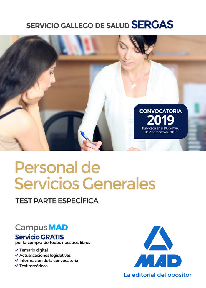 Personal servicios generales sergas 2019 test parte especif