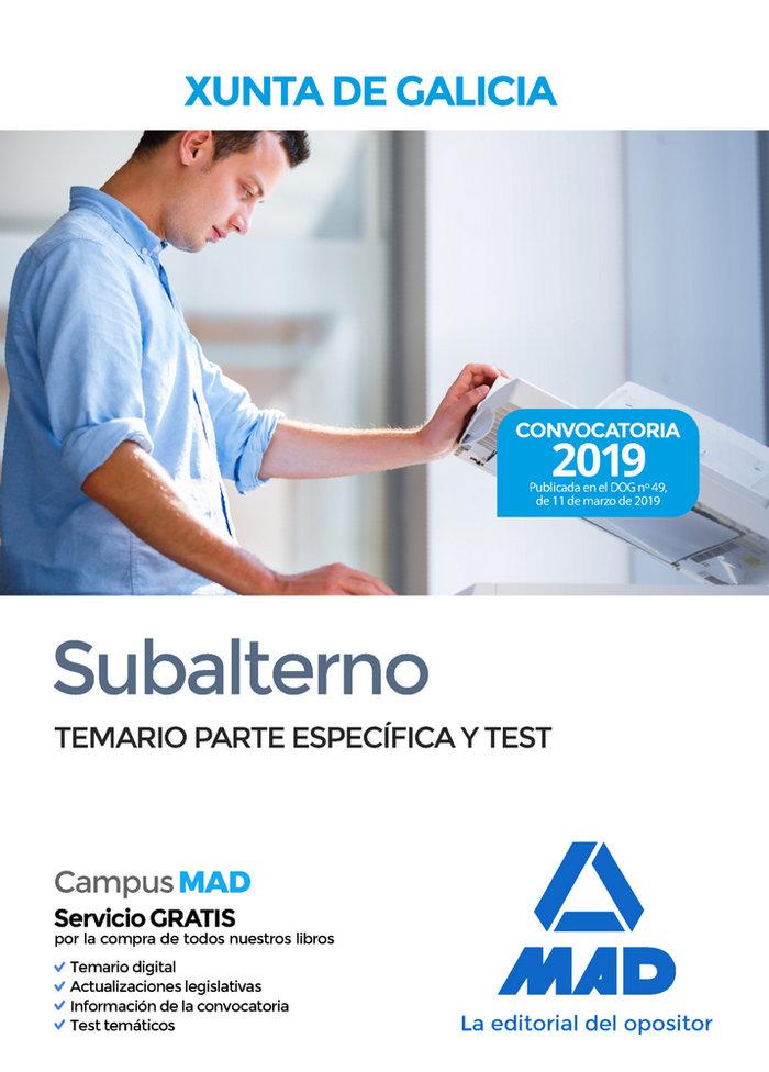 Subalterno xunta galicia temario parte especifica y test