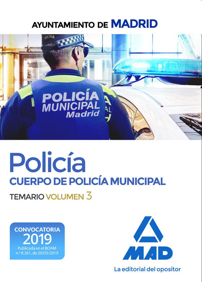 Policia cuerpo policia municipal ayuntamiento madrid vol 3