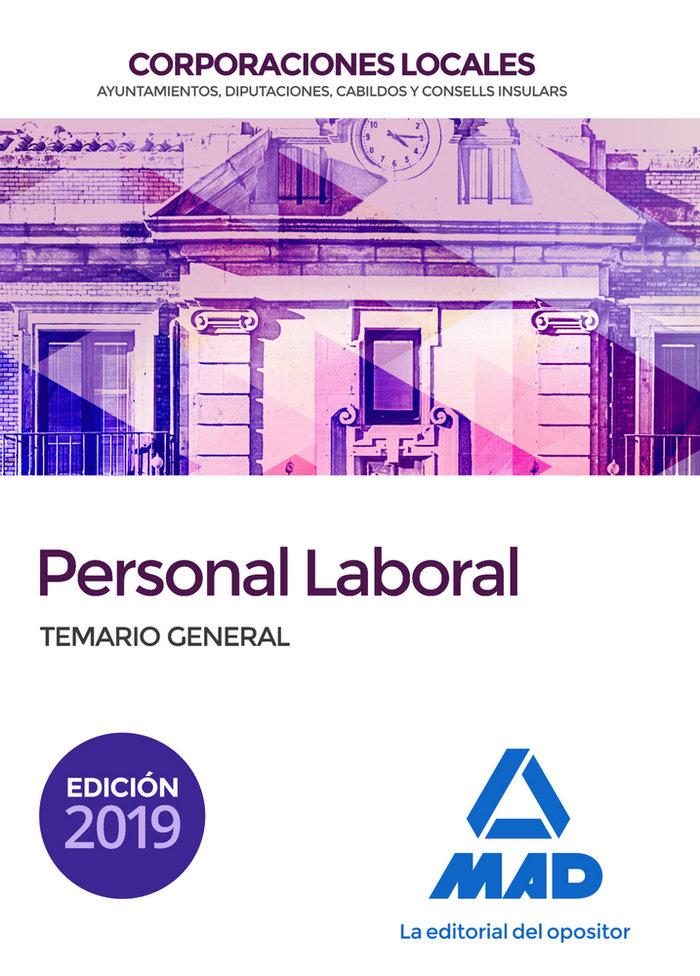 Personal laboral corporaciones locales temario general