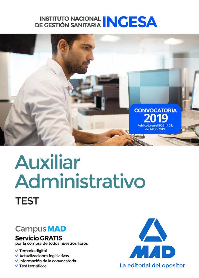 Auxiliar administrativo ingesa test