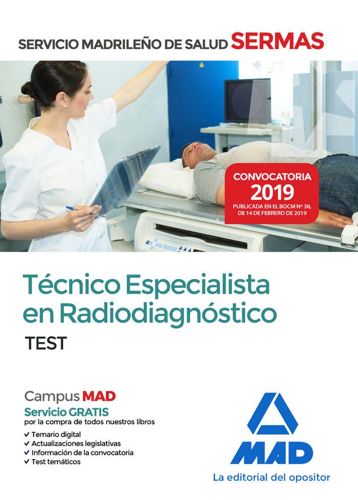 Tecnico especialista radiodiagnostico servicio madrid test