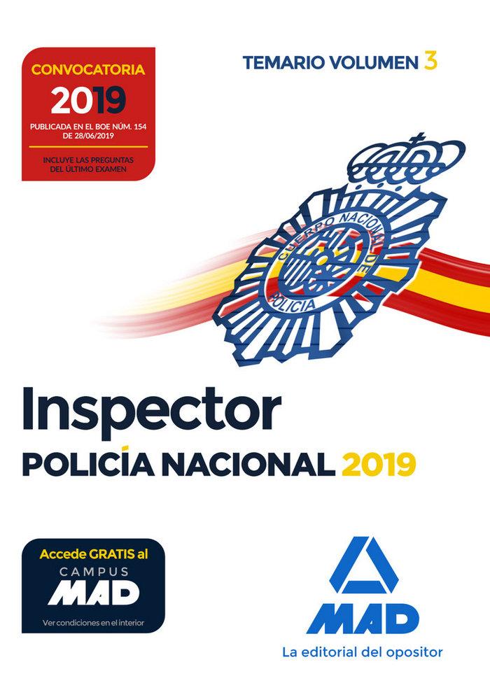 Inspector de policia nacional temario vol 3