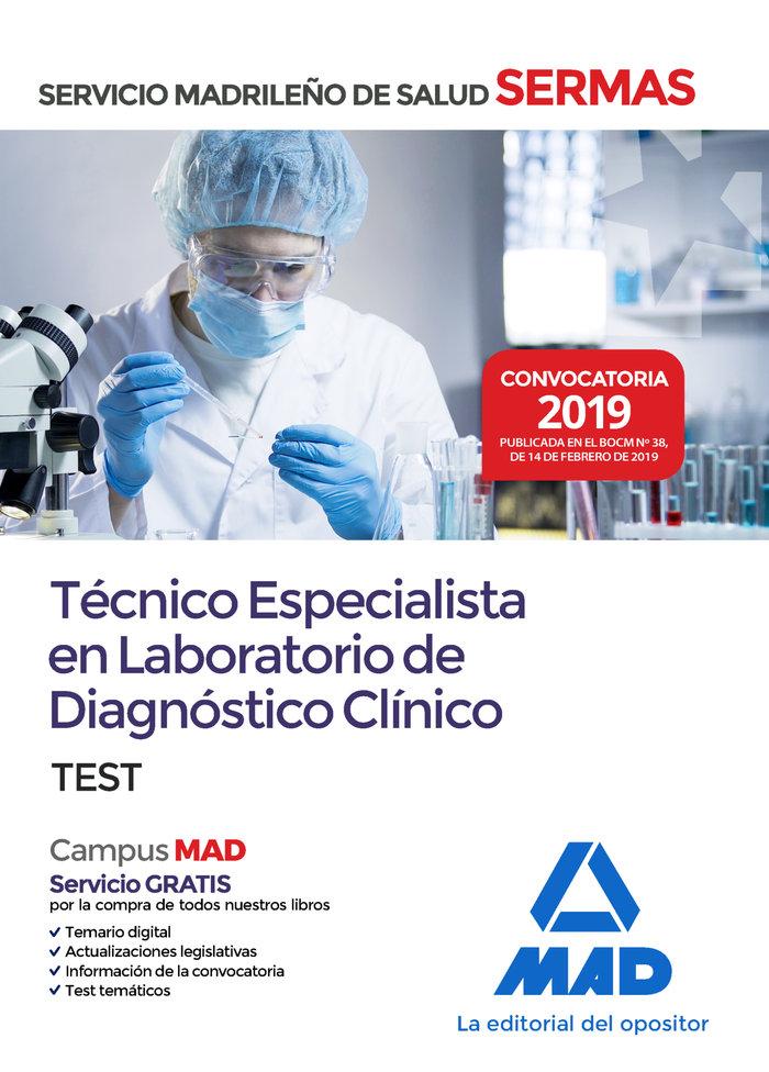 Tecnico especialista laboratorio diagnostico clinico test
