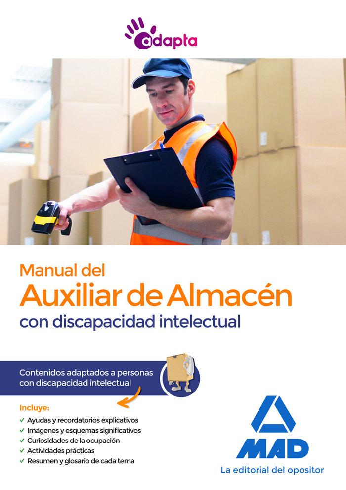 Manual auxiliar almacen adaptado discapacidad inte