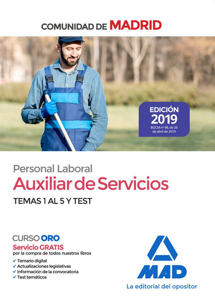 Auxiliar de servicios personal laboral comunidad madrid