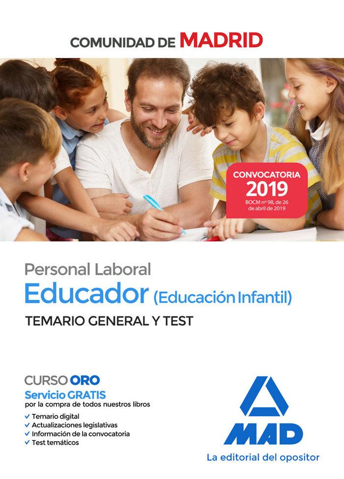 Educador infantil personal laboral madrid temario y test