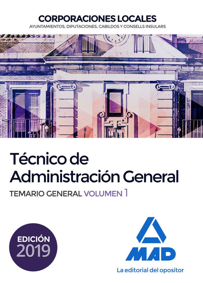 Tecnico administracion general corporacion local vol 1