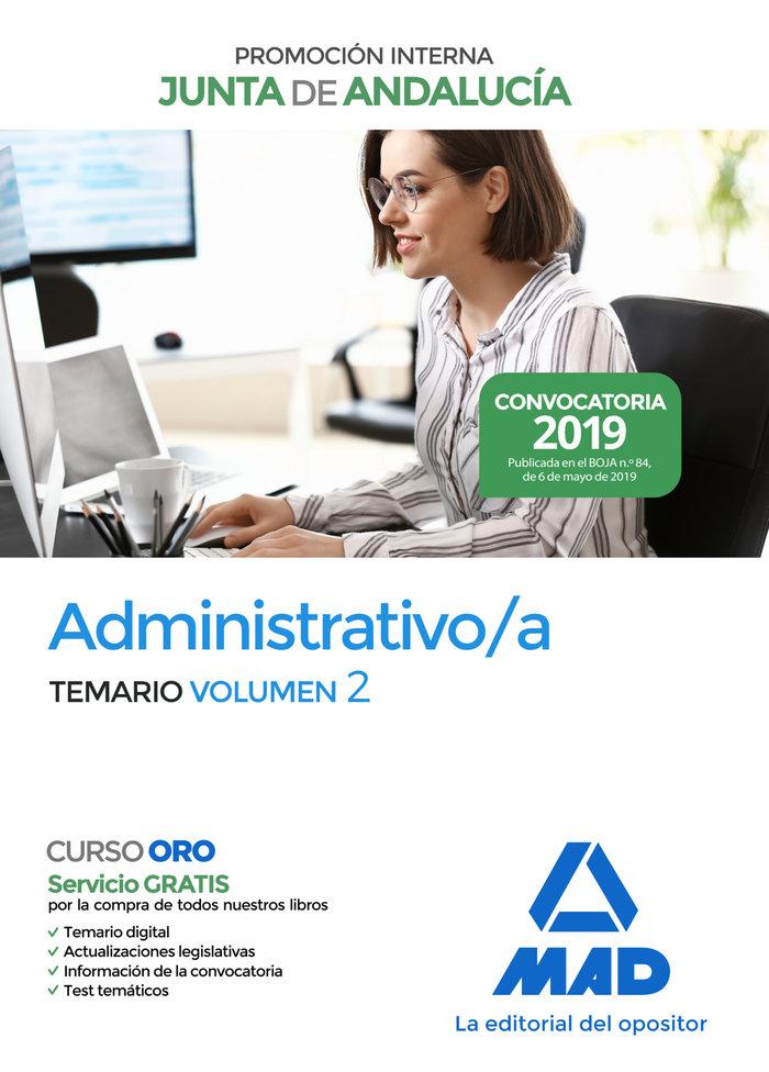 Administrativo junta andalucia promocion interna vol 2