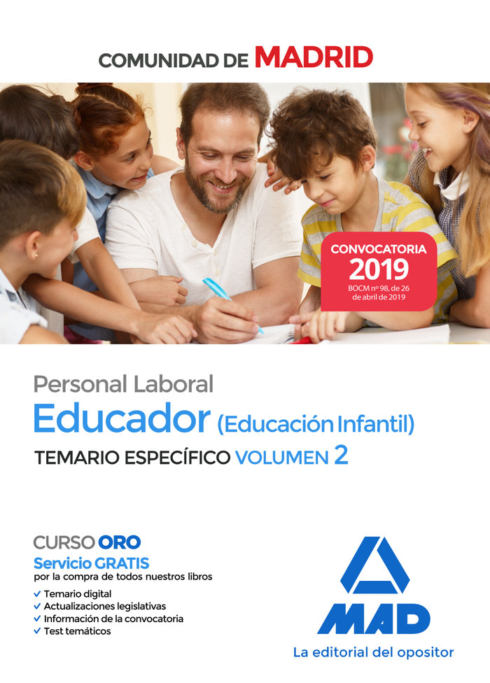 Educador infantil personal laboral especifico vol 2 madrid