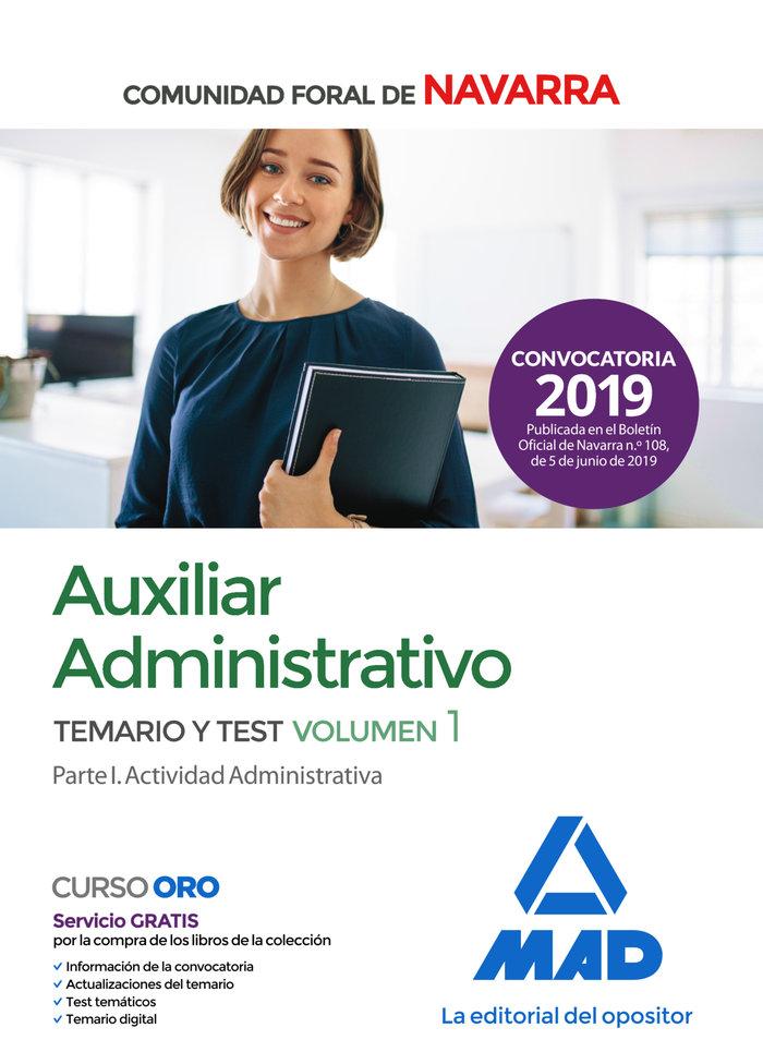 Auxiliar administrativo comunidad navarra temario 1 y test
