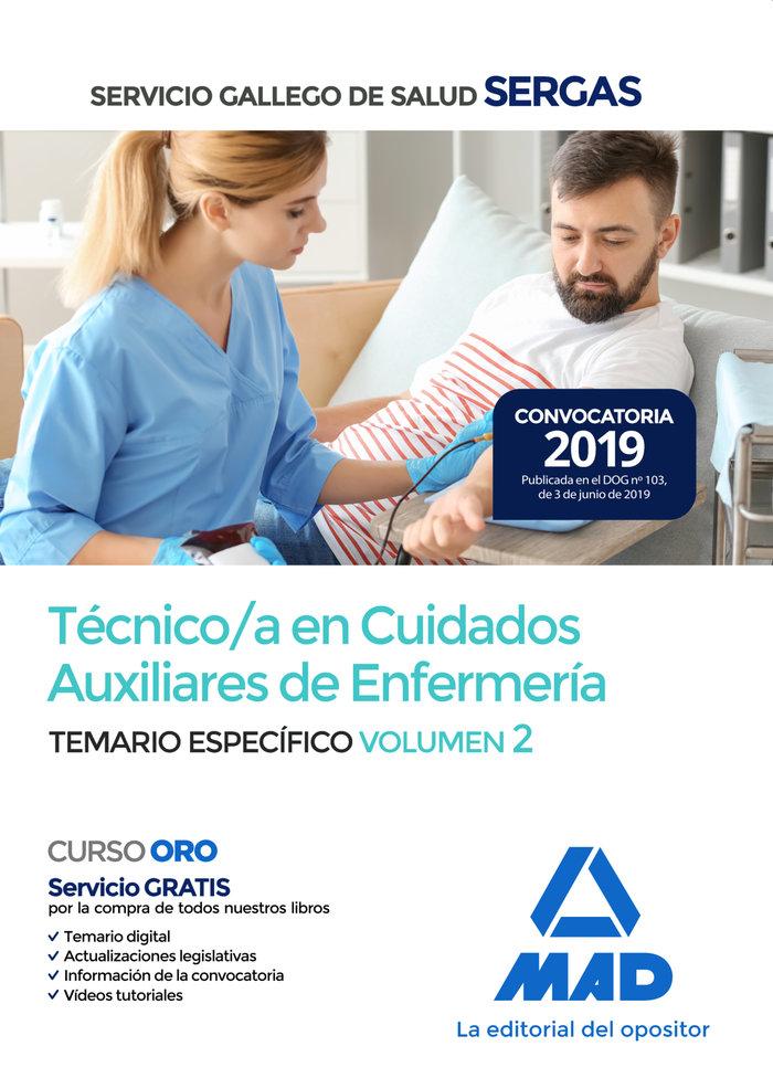 Tecnico/a cuidado auxiliar enfermeria gallego temario 2