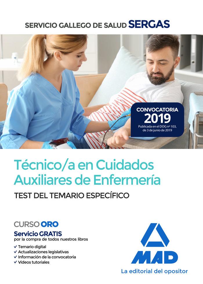 Tecnico/a cuidado auxiliar enfermeria servicio gallego test