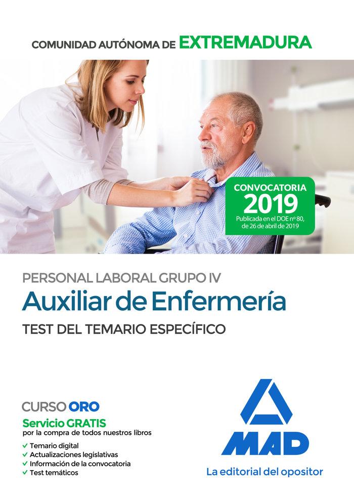 Auxiliar enfermeria personal laboral grupo iv test
