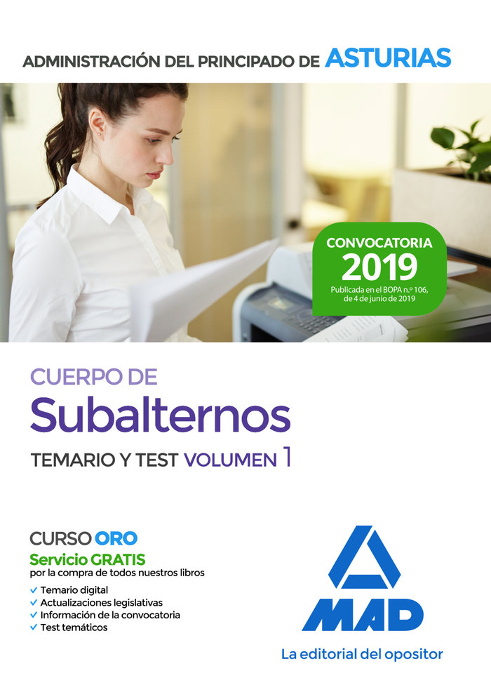 Subalternos administracion principado asturias vol 1