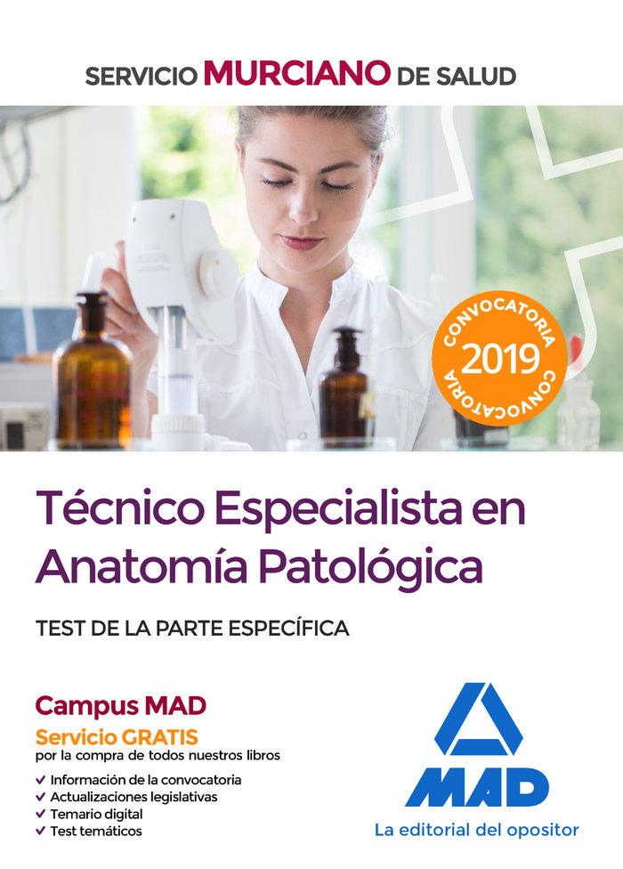 Tecnico especialista anatomia patologica servicio murica te
