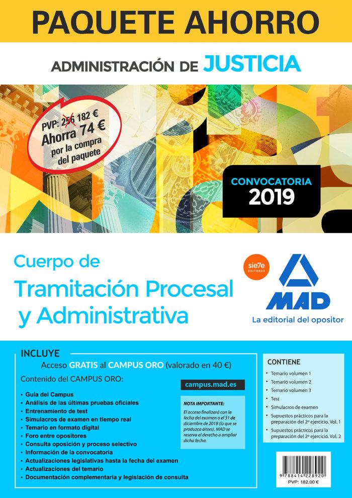 Paquete ahorro tramitacion procesal y administrativa turno