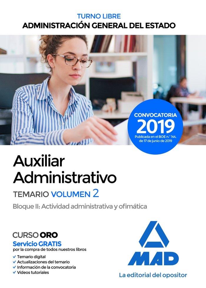 Aux administrativo estado vol 2 bloq 2 turno libre 2019