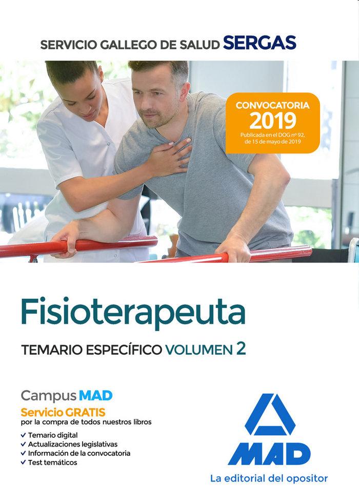 Fisioterapeuta servicio gallego salud temario especifico