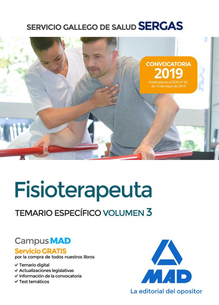 Fisioterapeuta servicio gallego salud temario especial 3