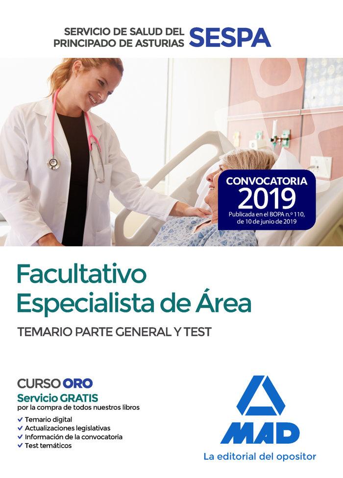 Facultativo especialista area servicio salud asturias temar