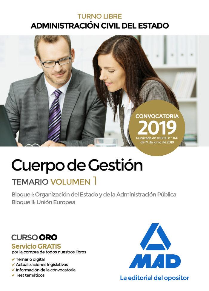 Cuerpo gestion administracion civil estado temario vol.1 19