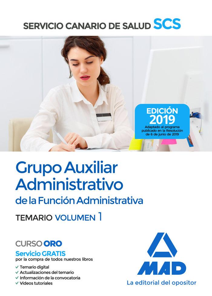 Auxiliar administrativo servicio canario salud vol 1 2019
