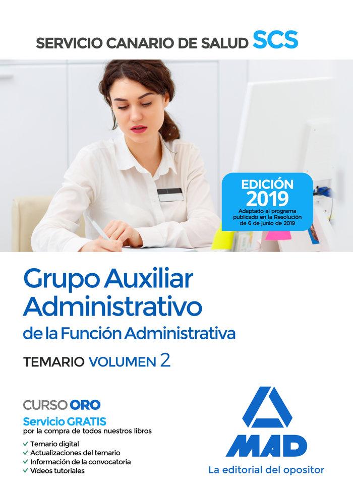 Auxiliar administrativo servicio canario salud vol 2 2019