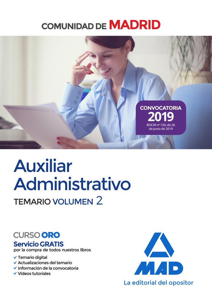 Auxiliar administrativo comunidad madrid temario vol 2