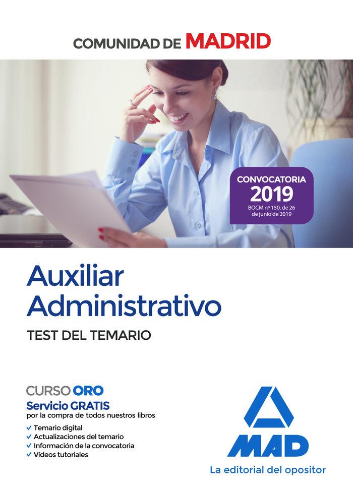 Auxiliar administrativo comunidad madrid test