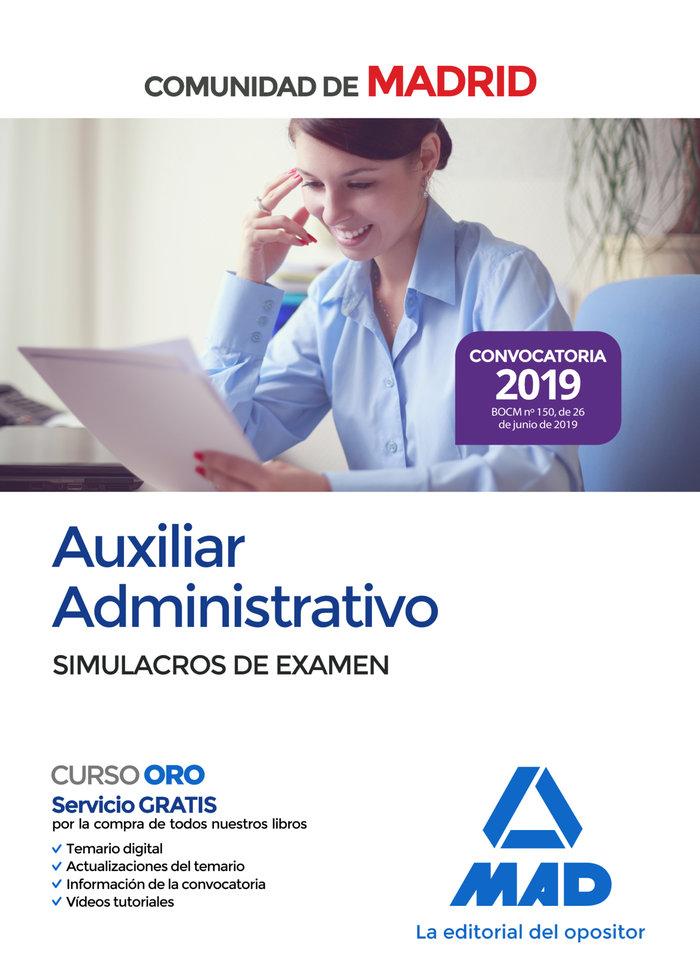 Auxiliar administrativo comunidad madrid simulacro examen
