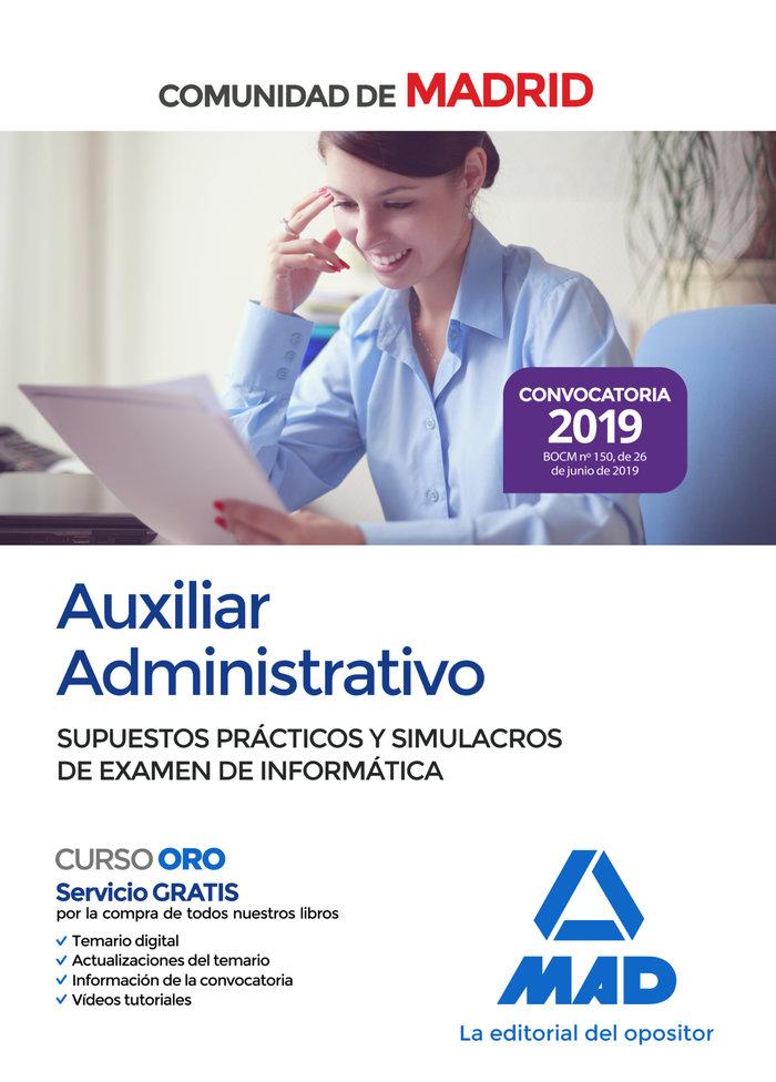 Auxiliar administrativo comunidad madrid supuestos practico